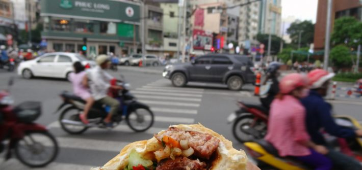 Cuisine vietnamienne - Banh Mi de rue à Hp Chi Minh