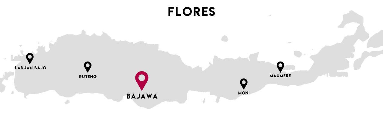 Carte Bajawa - Flores