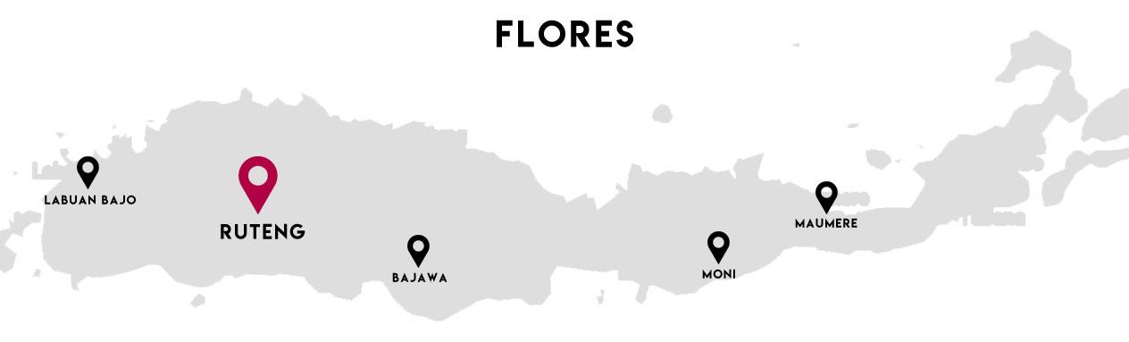 Carte de Flores - Ruteng