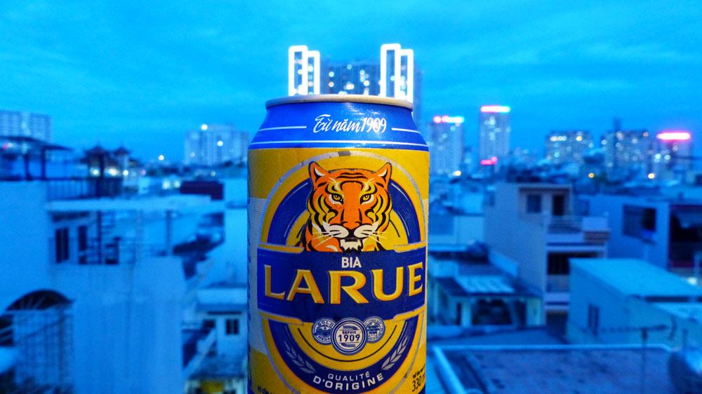 Bière LaRue à Ho Chi Minh au Vietnam