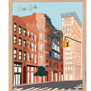 Affiche New York voyage
